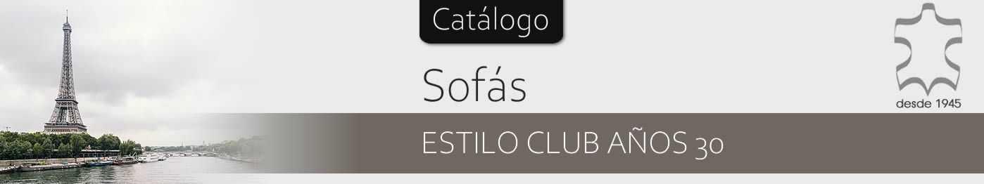Sofás de piel vintage Línea Club - Sofáhogar